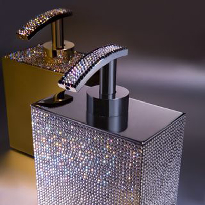 Bon Full Bathroom Sets. Crystal Soap Dispensers